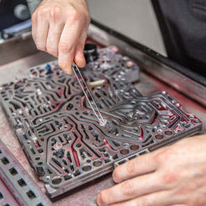 Reparatur eines Schaltschiebers Automatikgetriebe