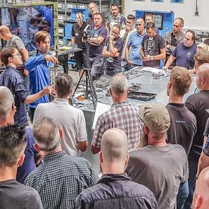 Geräteschulung Teststände Getriebe Firma Hetzel
